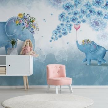 پوستر دیواری کودک کادو به فیل مادر مدل BKW086-1