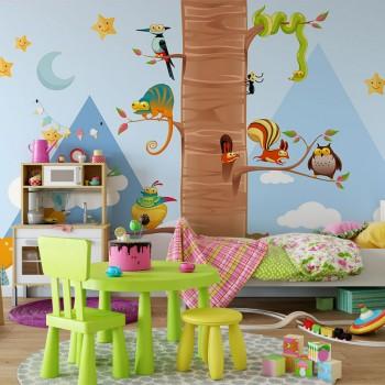 پوستر دیواری کودک حیوانات بامزه مدل BKW121-1
