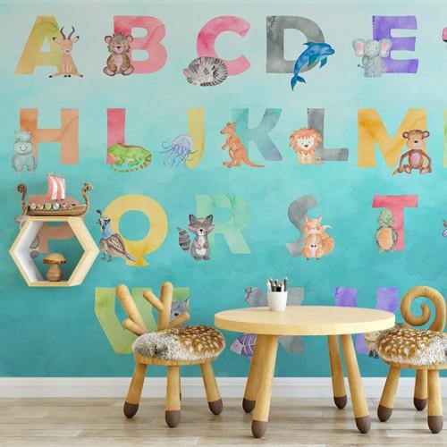 پوستر دیواری کودک حروف انگلیسی فانتزی...