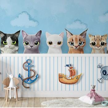 پوستر دیواری کودک گربه های...