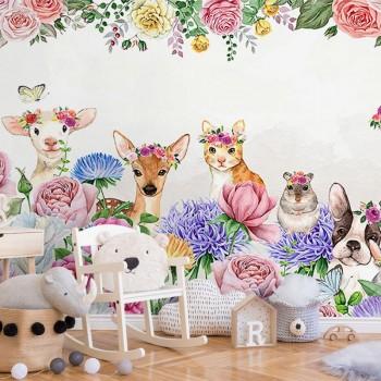 پوستر دیواری کودک جشن گل ها مدل BKW143-1