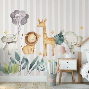 پوستر دیواری کودک حیوانات نقاش مدل BKW173-1