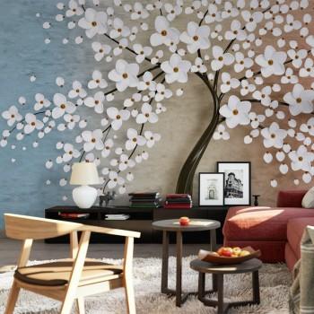 پوستر سه بعدی درخت شکوفهها مدل BCW028-1
