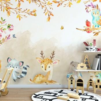 پوستر دیواری کودک جنگل مهربانی مدل BKW044-1