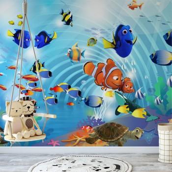 پوستر دیواری کودک جهان درون دریا مدل BKW043-1