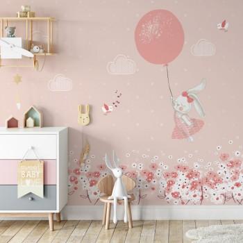 پوستر دیواری کودک خواب صورتی مدل BKW049-1