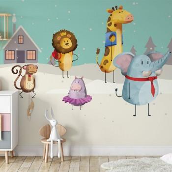 پوستر دیواری کودک روز برفی مدل BKW046-1