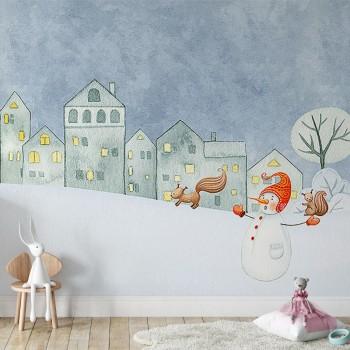 پوستر دیواری کودک در جست و جوی گوزن مدل BKW159-1