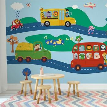 پوستر دیواری کودک سفر دسته جمعی مدل BKW172-1