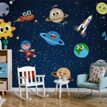 پوستر دیواری کودک موجودات فضایی مدل BKW068-1