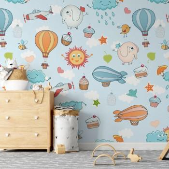 پوستر دیواری کودک نقاشی آسمانی مدل BKW149-1