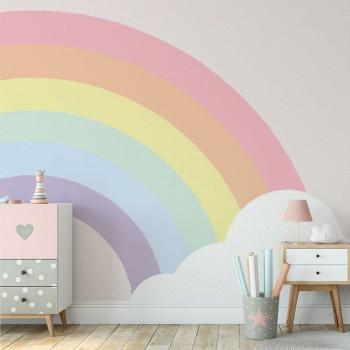 پوستر دیواری کودک پل رنگین کمان مدل BKW071-1