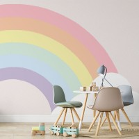 پوستر دیواری کودک پل رنگین کمان مدل BKW071-3