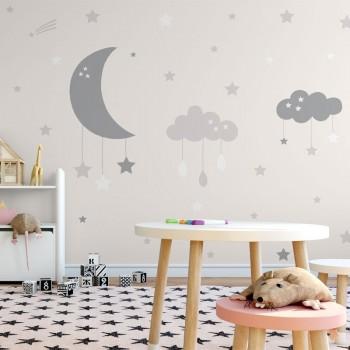 پوستر دیواری کودک جشن آسمانی مدل BKW072-1