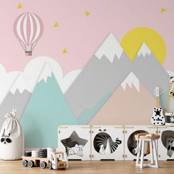 پوستر دیواری کودک رشته کوه جادویی مدل BKW156-1