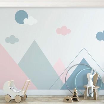 پوستر دیواری کودک کوه های هندسی مدل BKW162-1