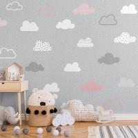 پوستر دیواری کودک ابر های آسمان مدل BKW021-1