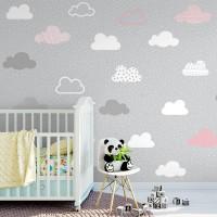 پوستر دیواری کودک ابر های آسمان مدل BKW021-3
