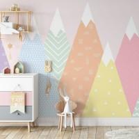 پوستر دیواری کودک کوه های بستنی مدل BKW186-1