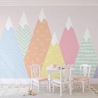 پوستر دیواری کودک کوه های بستنی مدل BKW186-3