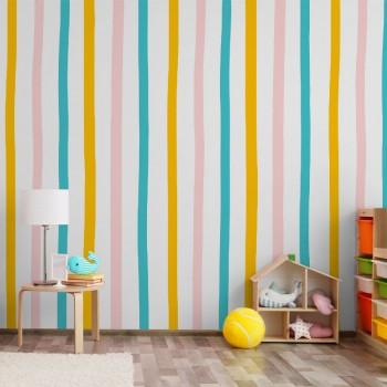 پوستر دیواری کودک راه راه های رنگی مدل BKW187-1