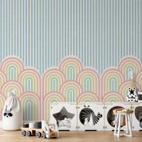 پوستر دیواری کودک تپه های رنگین کمانی مدل BKW201-1