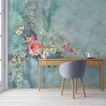 پوستر دیواری گل های مینیاتوری مدل BCW611-1