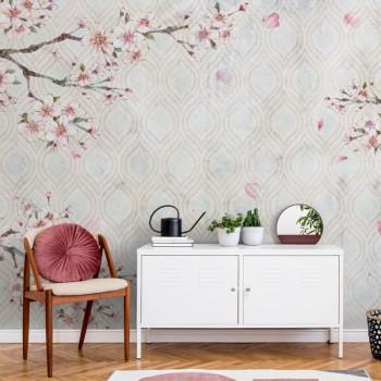 پوستر دیواری شکوفه ی سیب مدل BCW615-1