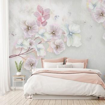 پوستر دیواری شکوفه های بهاری مدل BCW219-1