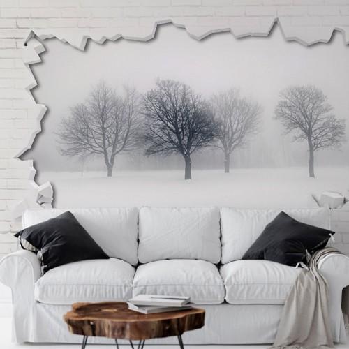 پوستر سه بعدی درختان زمستانی مدل BCW132-1