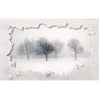 پوستر سه بعدی درختان زمستانی مدل BCW132-2