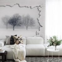 پوستر سه بعدی درختان زمستانی مدل BCW132-3