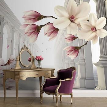 پوستر سه بعدی چهل ستون گل ها مدل BCW169-1