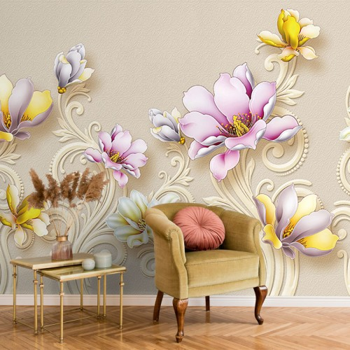 پوستر سه بعدی گل های سلطنتی مدل BCW226-1