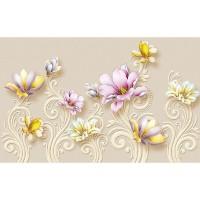 پوستر سه بعدی گل های سلطنتی مدل BCW226-2