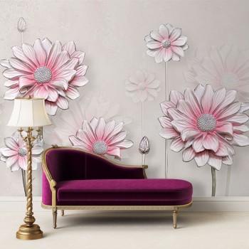 پوستر سه بعدی گل های کاغذی مدل BCW128-1