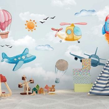 پوستر دیواری کودک پرواز در کودکی مدل BKW202-1
