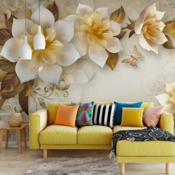 پوستر سه بعدی گل های کریستالی مدل BCW188-1