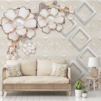 پوستر دیواری گل مرواریدی...