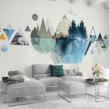 پوستر دیواری جهان مثلثی مدل BCW293-1