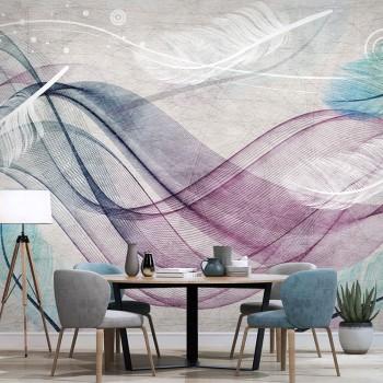 پوستر دیواری امواج رنگی مدل BCW316-1
