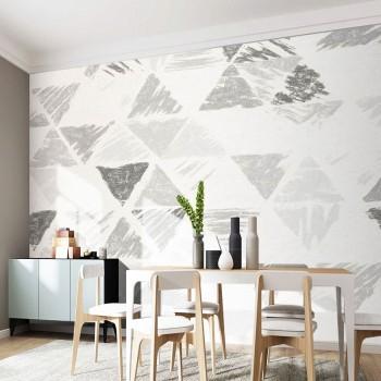 پوستر دیواری مثلث های سیاه و سفید مدل BCW328-1
