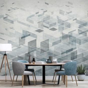 پوستر دیواری شیشه های هندسی مدل BCW325-1