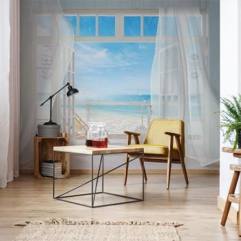 پوستر سه بعدی پنجرهای رو به دریا مدل BCW086-1
