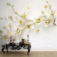 پوستر سه بعدی شاخه ای پر از شکوفه مدل BCW259-1