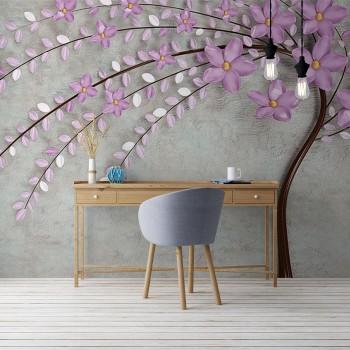 پوستر سه بعدی درخت بهاری مدل BCW095-1