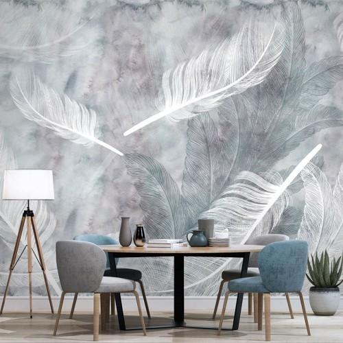 پوستر دیواری پرهای سفید مدل BCW275