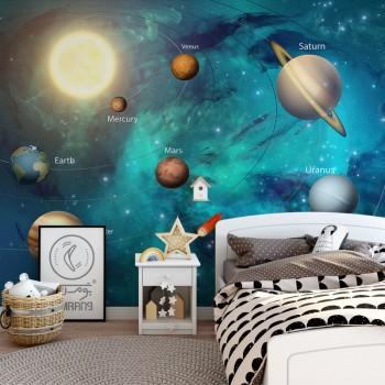 پوستر دیواری کودک کهکشان مدل BKW001-1