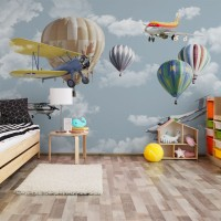 پوستر دیواری کودک آسمان هیجان انگیز مدل BKW002-1