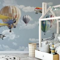 پوستر دیواری کودک آسمان هیجان انگیز مدل BKW002-3